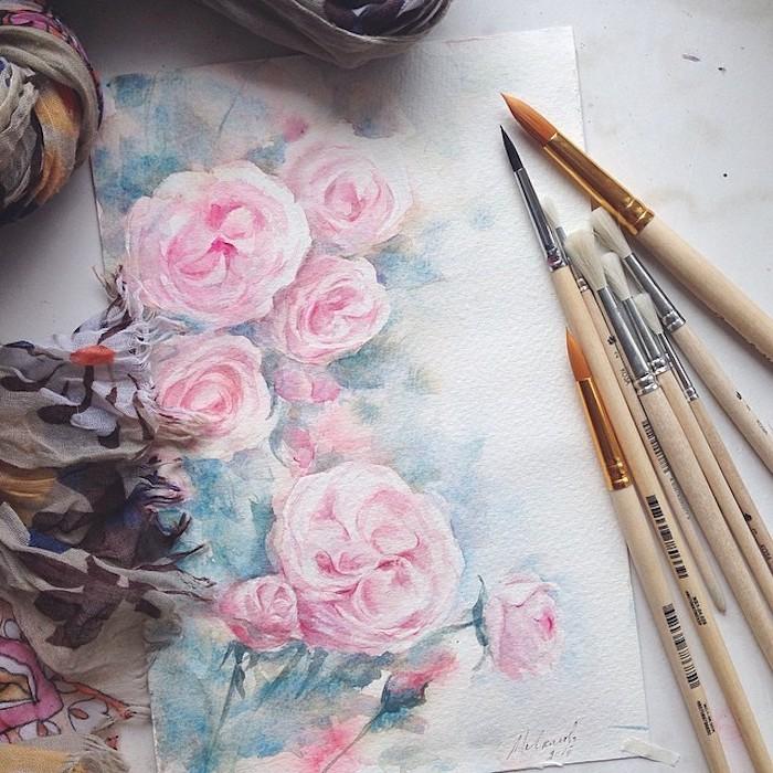 adorables ejemplos de dibujos de rosas en colores flores bonitas para dibujar fotos de dibujos chulos faciles de hacer