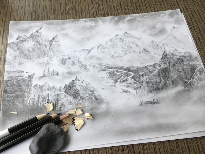 adorables paisajes montañosos dibujos de paisajes que inspiran montañas blanco y negro ideas de dibujos