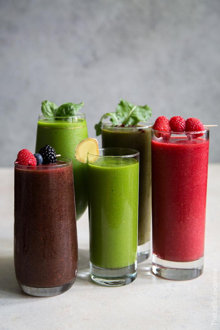las mejores ideas de recetas de batidos saludables, fotos con ideas de recetas caseras de smoothie, fotos de recetas