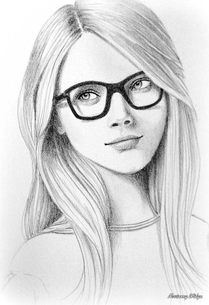 dibujos a lapiz faciles para principiantes, ideas sobre como dibujar una persona en blanco y negro, fotos de dibujos chulos