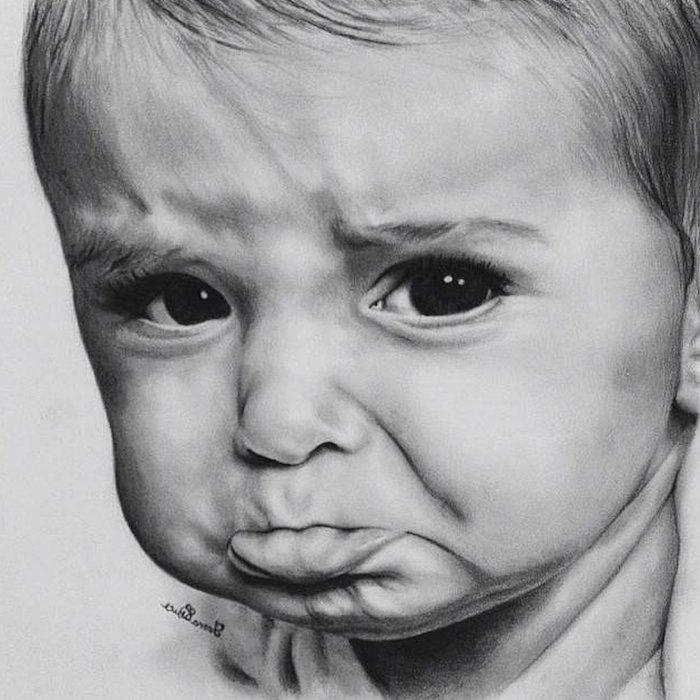 geniales ideas sobre como dibujar la cara de un bebe, fotos de dibujos de niños y bebes, ideas orignales de dibujos