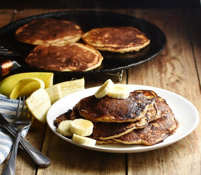 panqueques ricos y esponjosos, ideas de recetas de desayunos faciles y rapidos, tortitas de avena sin huevo en fotos