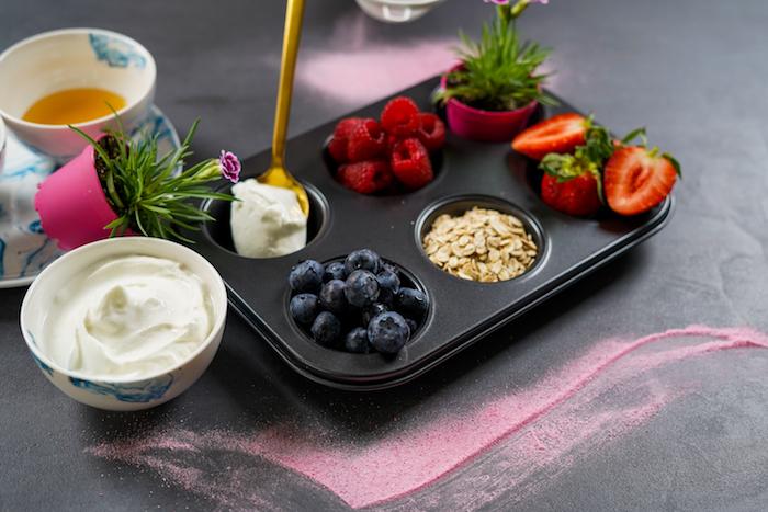 arandanos copos de avena fresas frambuesas skyr como hacer helado casero paso a paso ideas de magdalenas heladas recetas saludables