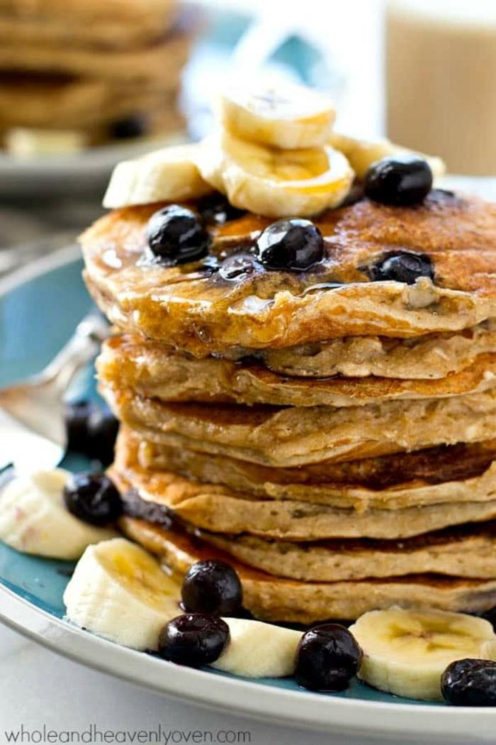 como hacer tortitas americanas desayuno sanos y equilibrados, ideas de desayunos nutritivos y fáciles de hacer, como hacer tortitas caseras