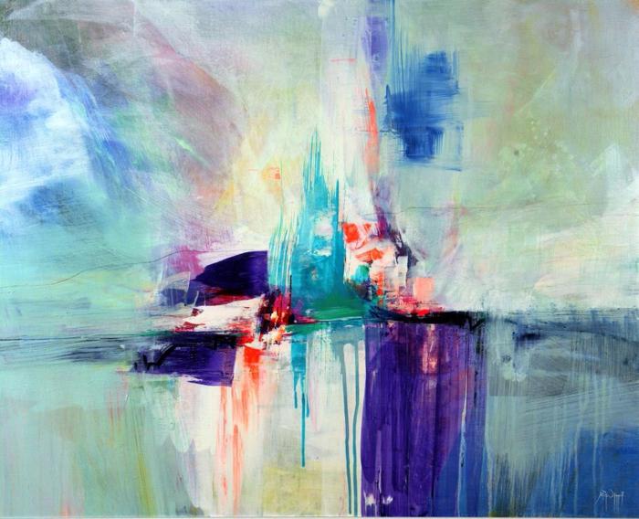 las mejores ideas de paisajes en color azul estilo abstracto, dibujos faciles de hacer, cosas para dibujar chulas