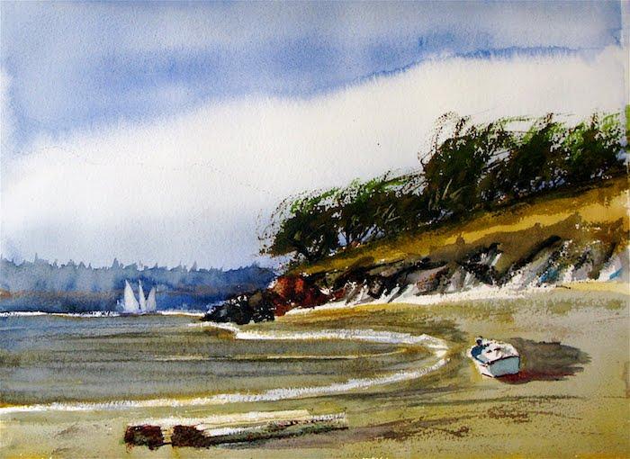azul cielo barco hierbas ideas de dibujos para colorear paisajes fotos de paisajes que inspiran dibujos del mar originales