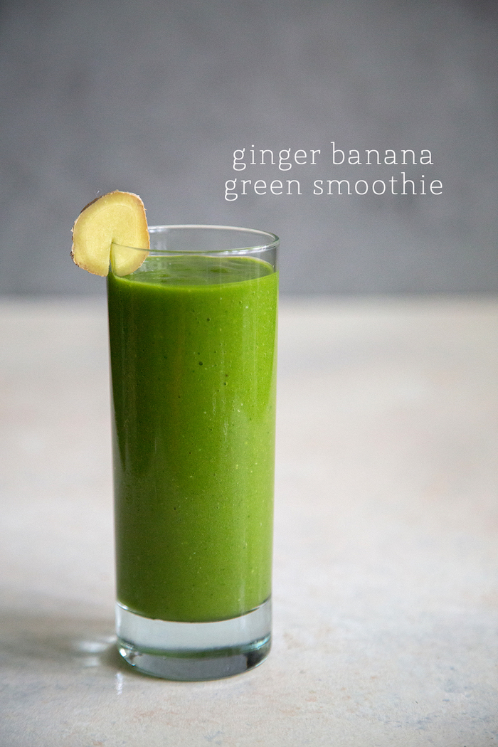batido verde de jengibre, batidos de frutas originales con verduras, ideas de recetas caseras faciles y rapidas