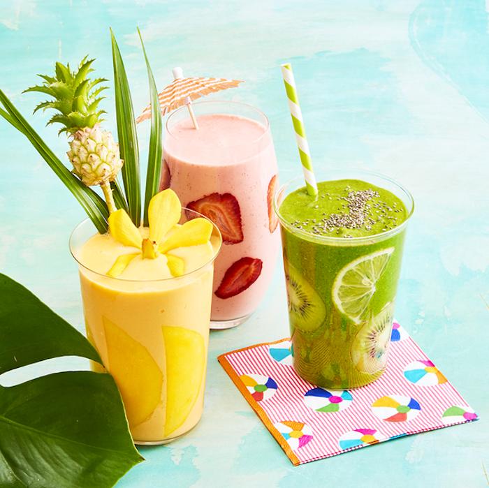 frutas exoticas para hacer un smoothie, ideas de recetas caseras faciles y rapidas, fotos de recetas de smoothies