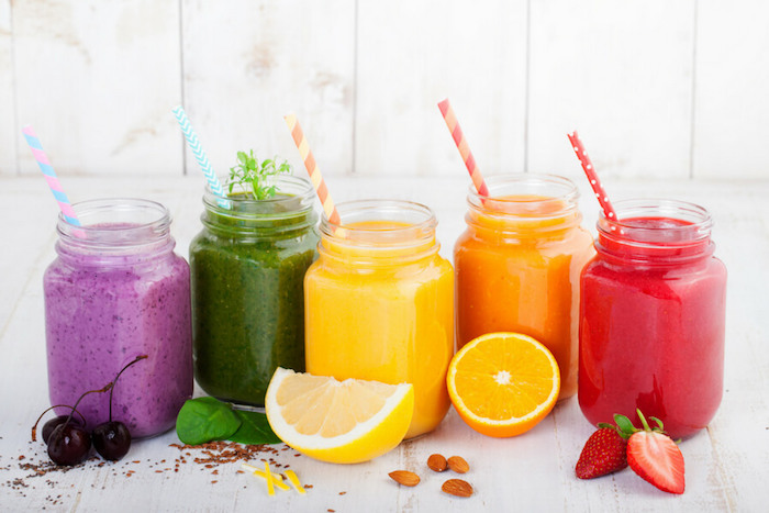 ideas de recetas caseras faciles y rapidas, fotos de desayunos con batidos de frutas, como hacer smoothies saludables