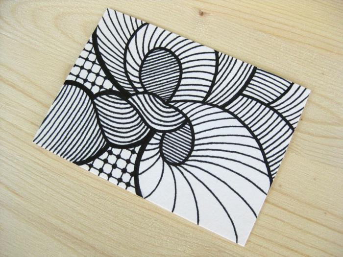 como hacer dibujos insiradores en blanco y negro, pintar arte abstracto, ideas de dibujos originales y faciles de hacer