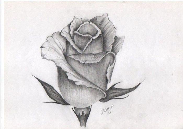blanco y negro dibujo rosa fotos de dibujos originales v ideas de dibujos hermosos de flores