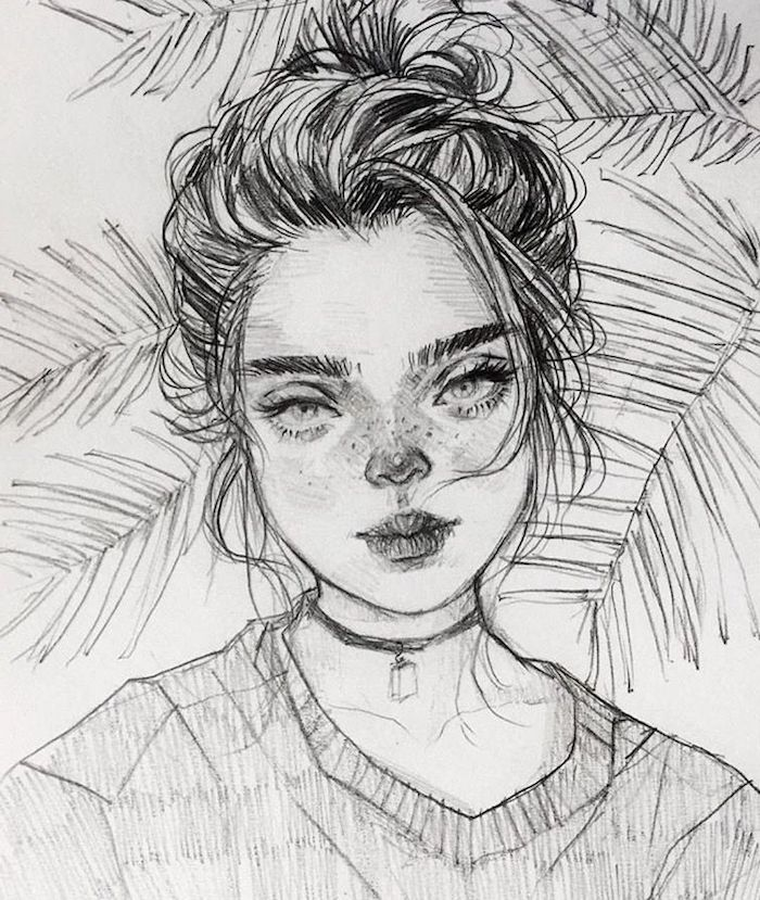 geniales ideas de dibujos en blanco y negro, retratos y dibujos de personas en blanco y negro, ideas de dibujos realistas