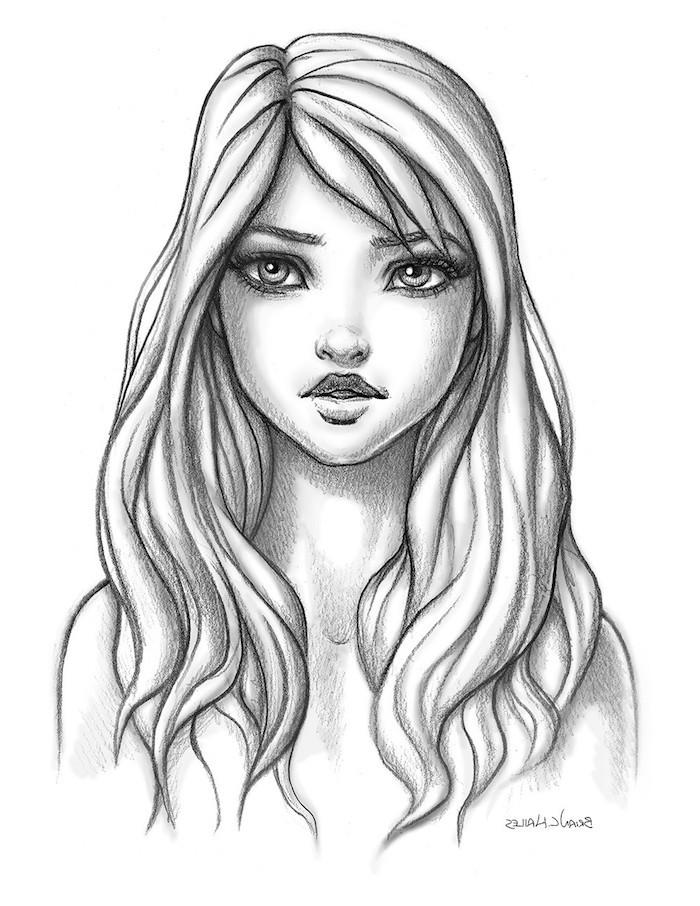 dibujos de personas faciles y originales, fenomenales ideas sobre como dibujar una niña, fotos de dibujos originales