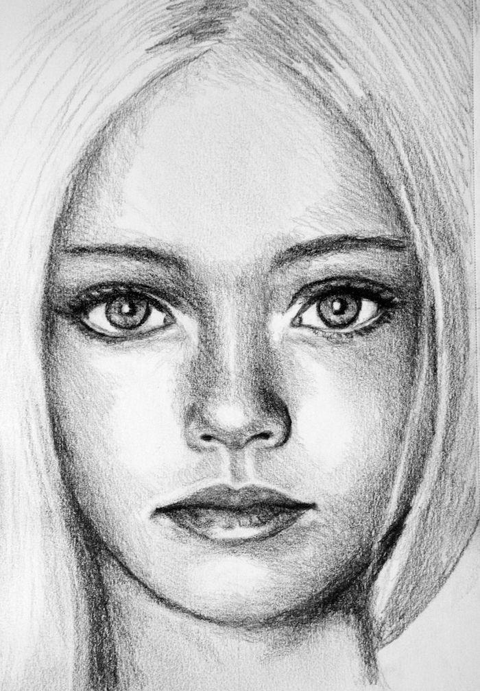 excelentes ideas sobre como dibujar la cara de una niña, fotos de dibujos inpiradores y originales ideas de dibujos