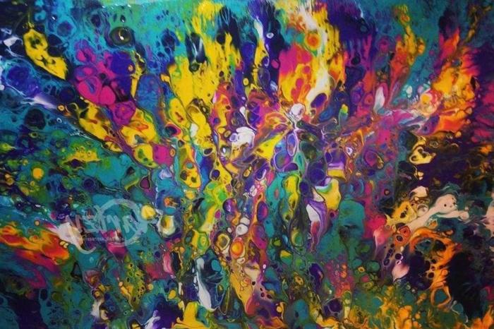 geniales ideas de dibujos en colores vibrantes estilo abstracto, fotos de dibujos originales, dibujos faciles para dibujar