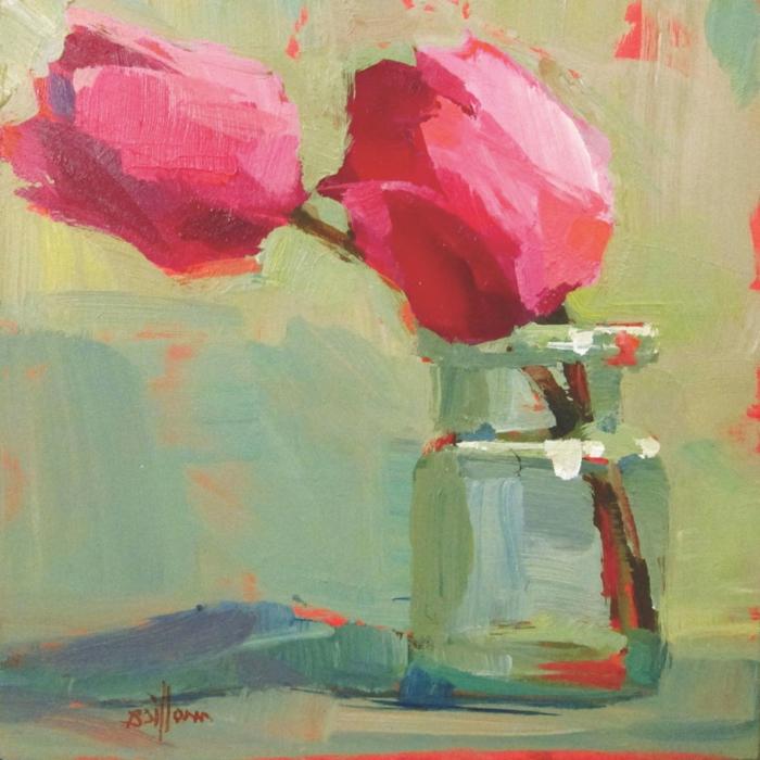 geniales ideas de dibujos de flores en estilo abstracto, dibujos abstractos bonitos y faciles de hacer en casa
