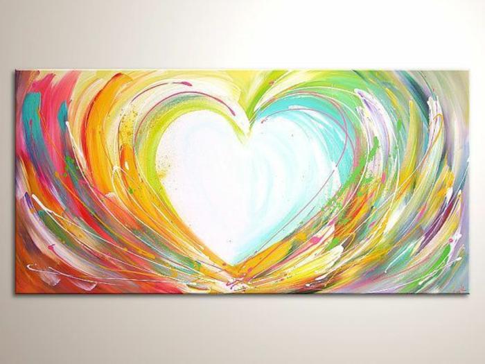 dibujo corazon en colores vibrantes, ideas de dibujos originales y bonitos, geniales ideas de dibujos arte abstacto