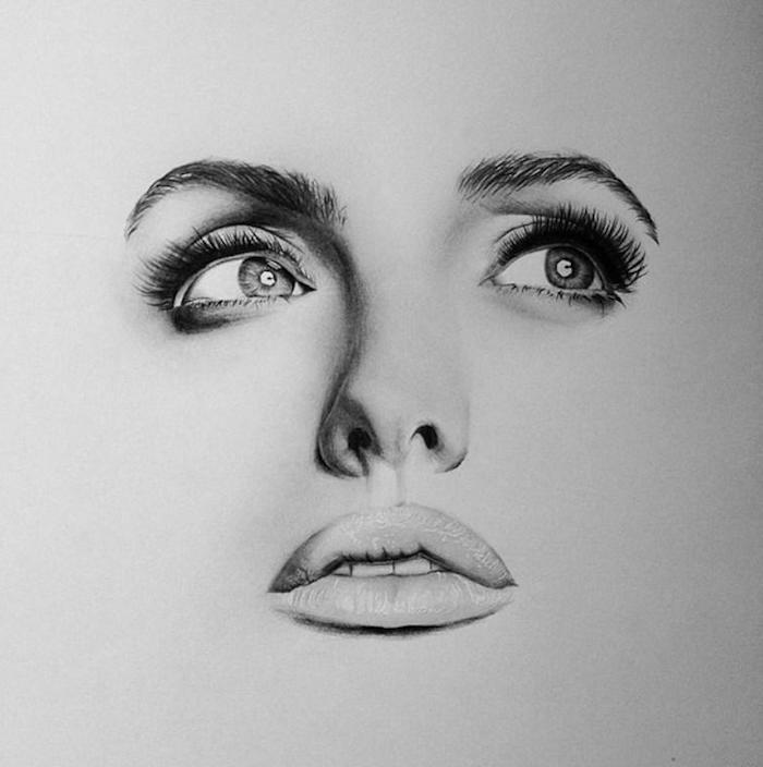 ejemplos inspiradores de dibujos, fotos de dibujos realistas bonitos, ideas de dibujos originales y faciles de hacer