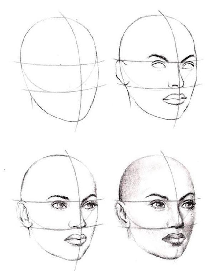 como dibujar la cara de una mujer paso a paso, dibujos de personas faciles, fotos de dibujos originales y realistas