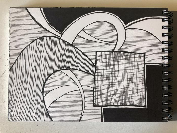 cuadros en blanco y negro inspiradores, fotos de dibujos originales, dibujos cubicos bonitos, ideas de dibujos