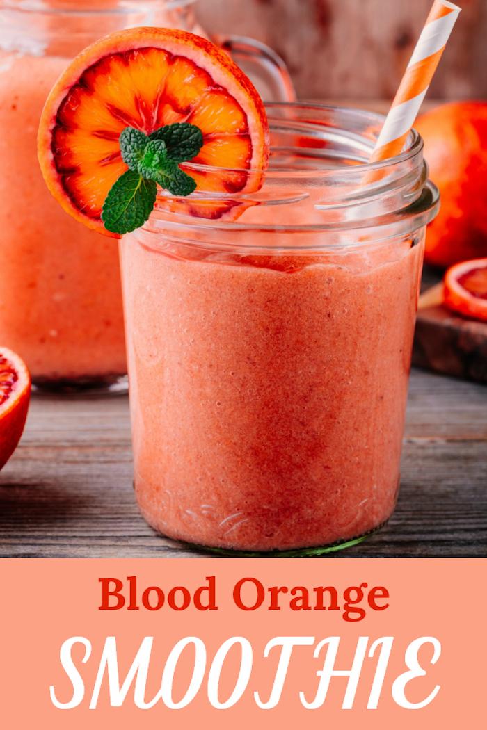desayunos saludables y faciles de hacer en casa, como hacer un batido casero de naranja, fotos de batidos ricos
