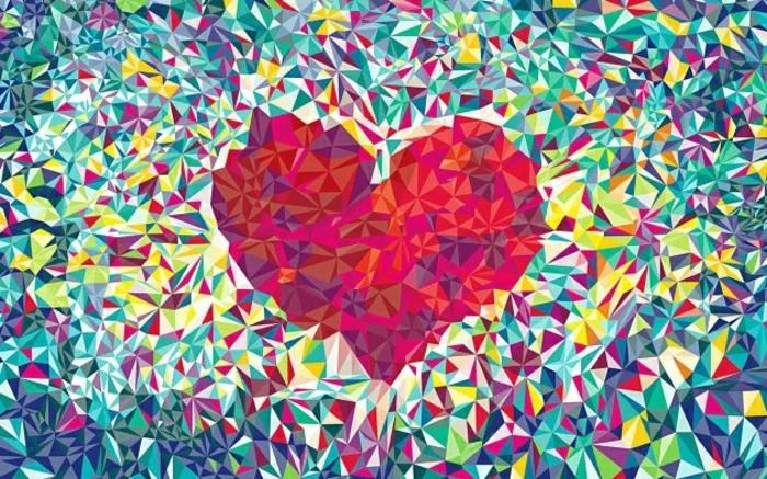 como dibujar un corazon en estilo abstracto, fotos de dibujos originales y faciles de hacer, ideas de dibujos fenomenales