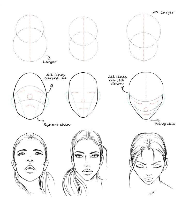 las mejores ideas sobre como dibujar una mujer, , dibujos de caras, aprende a dibujar, como dibujar un rostro