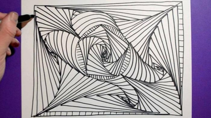 dibujos geometricos en blanco y negro, ideas de dibujos simbolicos faciles de hacer en casa, fotos de dibujos