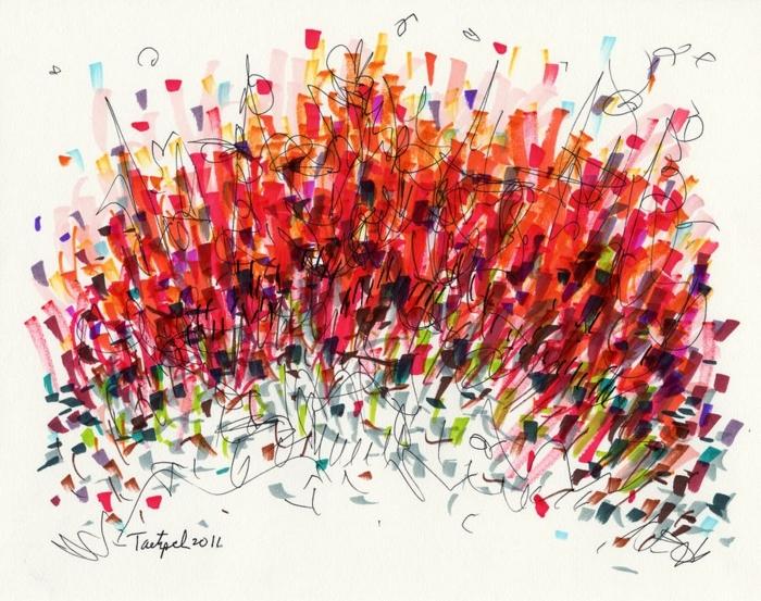 geniales ideas de dibujos en colores vibrantes, ideas de dibujos abstractos originales, excelentes ideas de dibujos