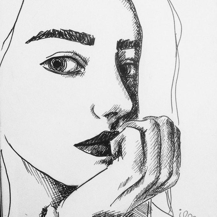 geniales ideas sobre como dibujar una cara de mujer, dibujos a lapiz faciles para principiantes, fotos en blanco y negro