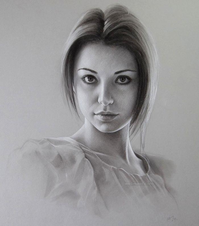 las mejores ideas sobre como dibujar caras de mujeres, bonitas ideas de retratos de mujeres en estilo realista