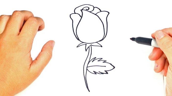 dibujo rosa con marcador negro ideas de dibujos originales y faciles de hacer fotos de dibujos