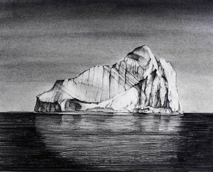 dibujos a carboncillo de paisajes mar oceano ideas de paisajes para dibujar