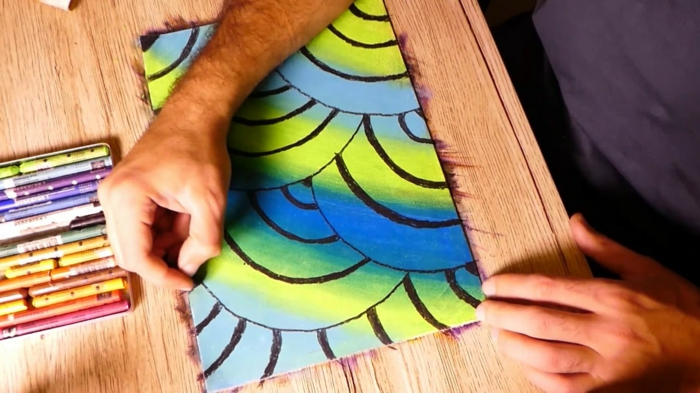 ideas chulas de cosas en colores vibrantes, dibujos faciles para dibujar, ideas de dibujos en estilo abstracto