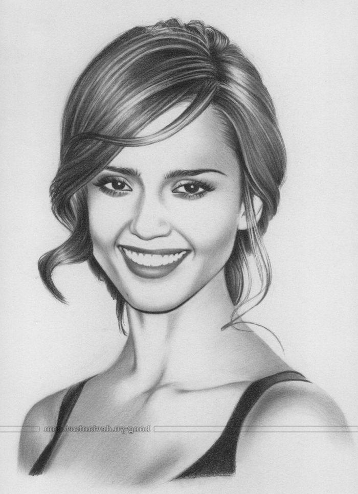 las mejores ideas de retratos de mujeres en estilo realista, fotos de dibujos chulos y faciles de hacer, ideas de dibujos