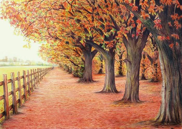dibujos de otoño v arboles color de otoño rojo naranja ideas de dibujos de otoño bonitos fotos