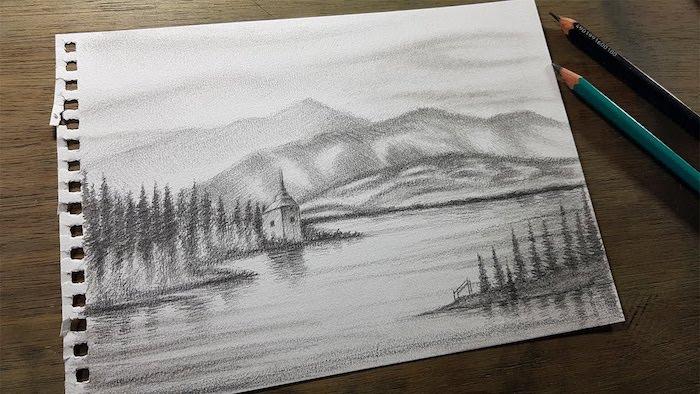 dibujos inspiradores de paisajes de naturaleza dibujos a lapiz como dibujar a lapiz