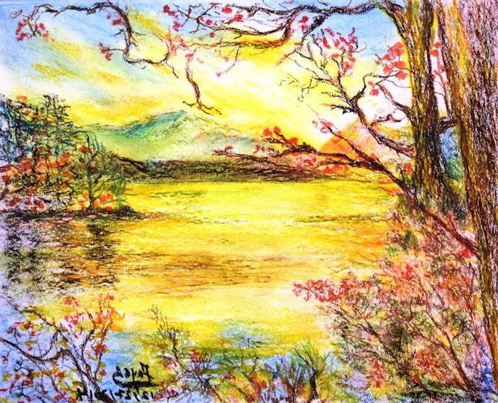 ejemplos adorables de paisajes en bontios colores dibujos de paisajes naturales fotos de dibujos chulos y faciles de hacer
