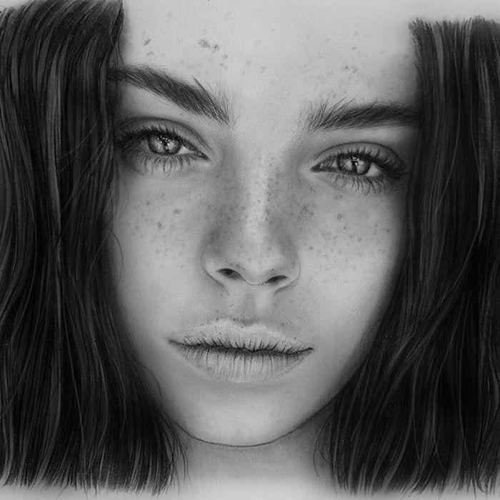 como dibujar una cara con mucha profundidad, dibujos realistas faciles de hacer, dibujos a lapiz faciles para principiantes