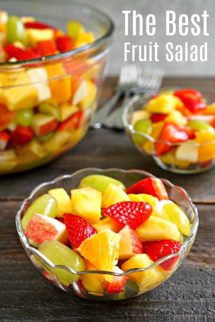 ensaladilla con uvas, fresas y naranjas, fotos de ensaladas frescas y ricas, como hacer una ensalada casera paso a paso