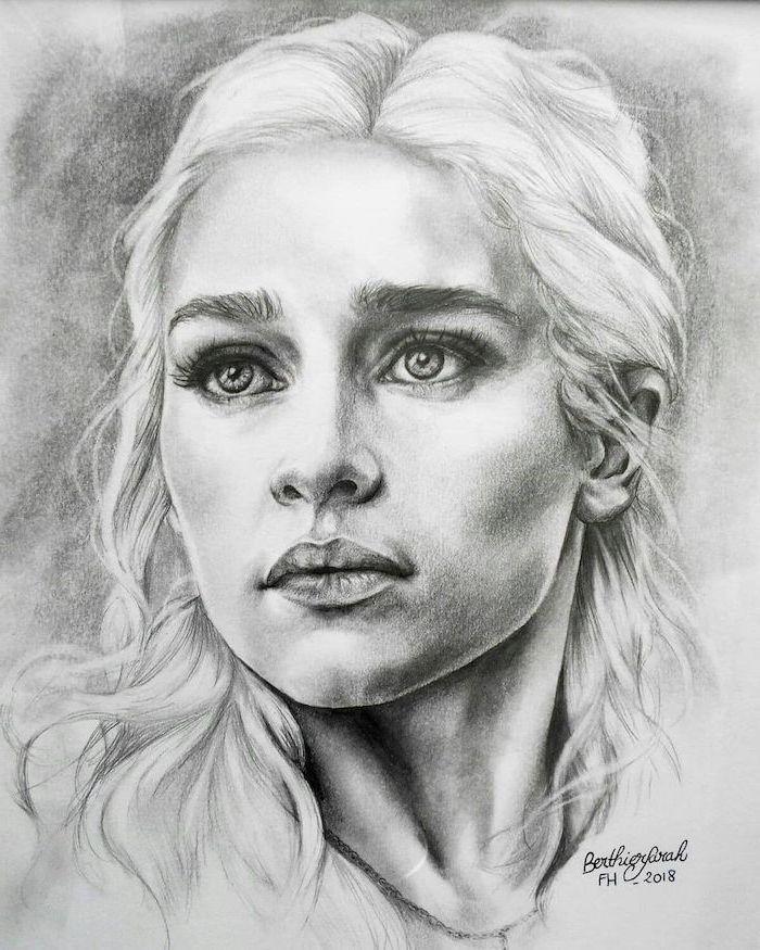 alucinantes ideas sobre como dibujar una cara, dibujos realistas en blanco y negro, dibujos a carboncillo originales