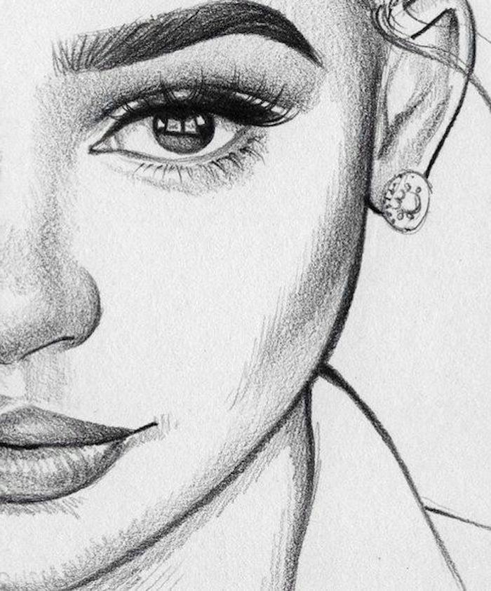 geniales ideas de dibujos de hombres y mujeres a lapiz en estilo realista, fotos de dibujos chulos y faciles de hacer
