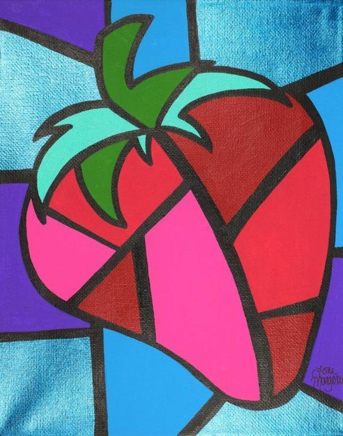 colores vibrantes en dibujos, dibujos faciles para dibujar, ideas de dibujos originales y bonitos para edibujar