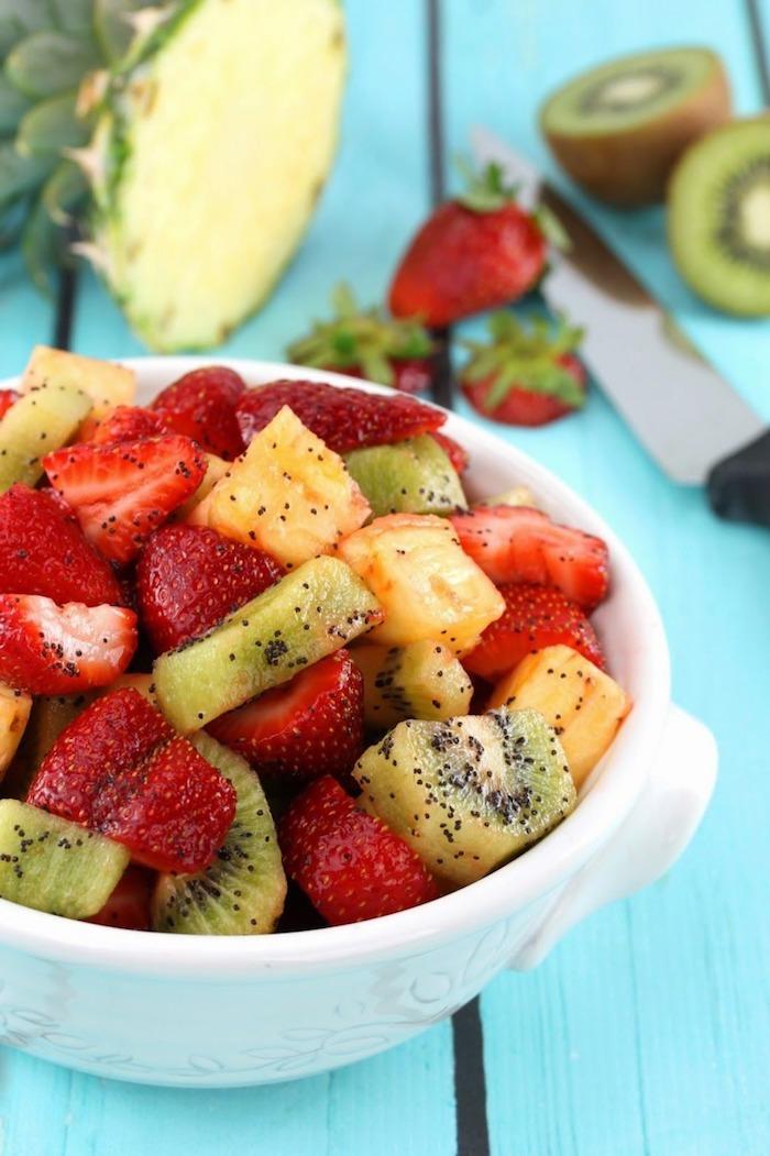 geniales ideas sobre como hacer una ensaladilla de frutas, receta de ensalada de frutas, macedonia de frutas