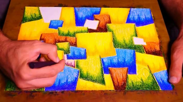 paisajes abstractos faciles para dibujar, ideas de dibujos faciles para dibujar, fotos de dibujos originales