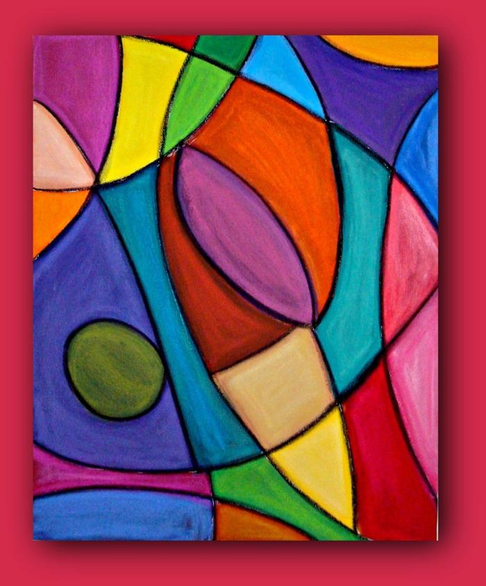 las mejores ideas de cuadros abstractos y chulos, fotos de dibujos originales en colores, ideas de dibujos en estilo abstracto