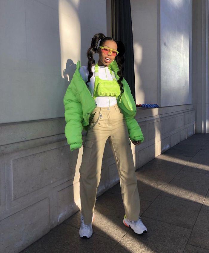 geniales ideas de prendas deportivas zapatillas pantalones chaqueta deportiva color neon ideas de prendas