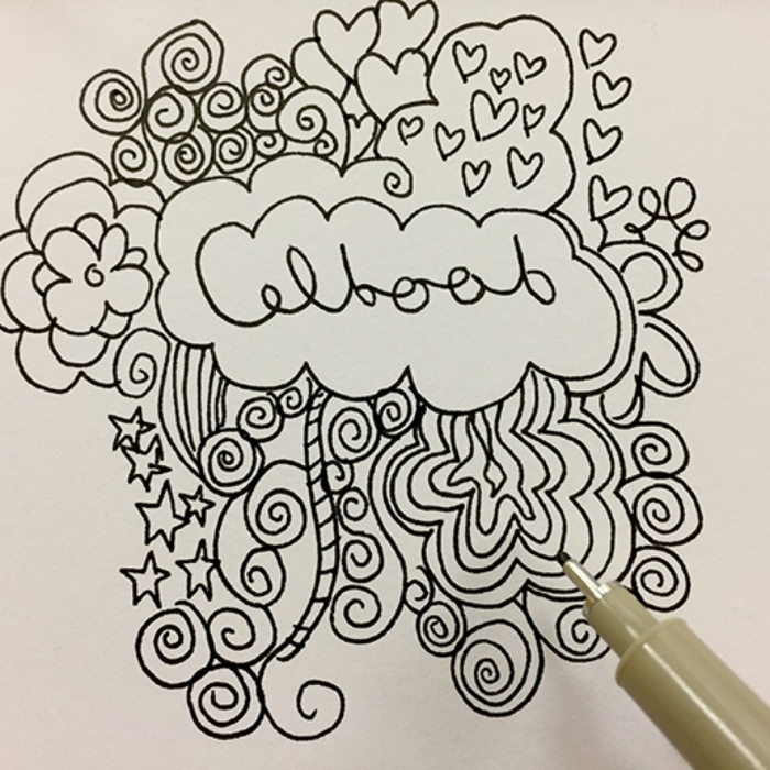dibujos a lapiz faciles y dibujos con marcador negro abstractos, ideas de dibujos para colorear, fotos de dibujos