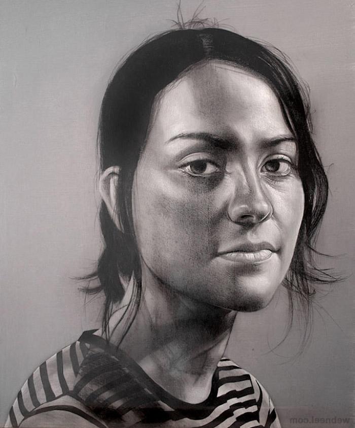 como dibujar la cara de una persona a carboncillo, geniales ideas de dibujos de personas, dibujos a lapiz faciles para principiantes