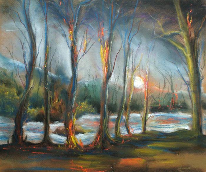 hermosas ideas de pinturas de paisajes en colores pinturas al oleo
